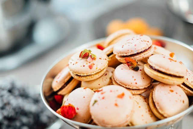 a bowl or French inspired macarons